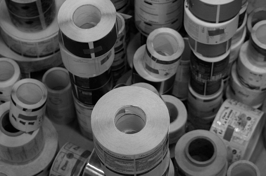 bobinas de etiquetas